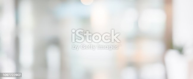 istock abstract blur inside modern architecture loft cozy interior office workplace background with light window effect for banner , ads design 1097722902