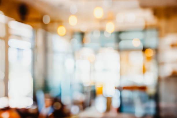 abstrakte unschärfe innen café oder café für hintergrund. - cafe stock-fotos und bilder