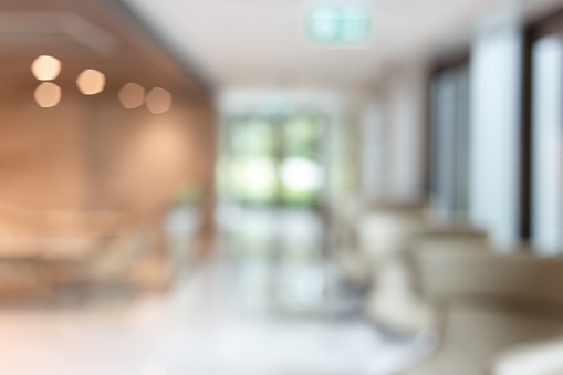Abstract blur lobby in hotel interior background