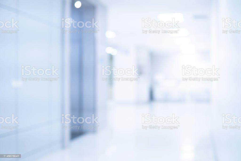 Abstract blur luxury hospital corridor. Blur clinic interior...