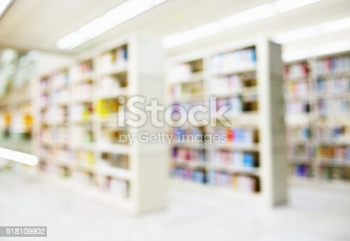 istock Abstract blur of library 518109902