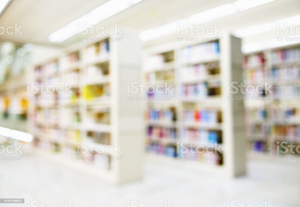 Abstract blur of library stock photo