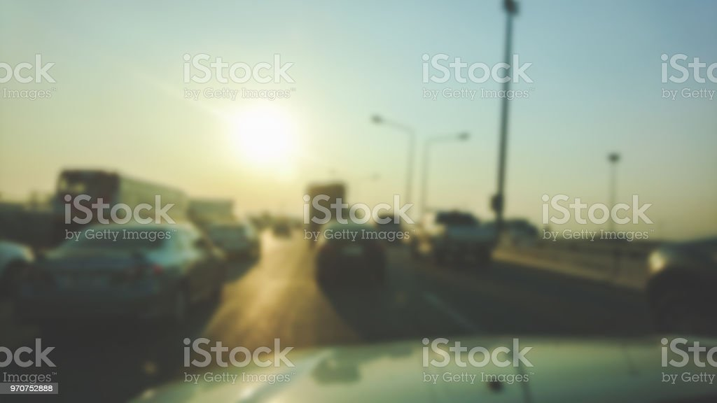 Abstract Blur Of Traffic Jam Stock Photo & More Pictures of