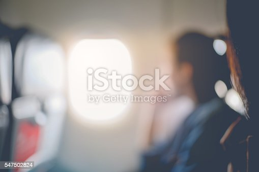 istock Abstract blur of woman looks out the window 547502824