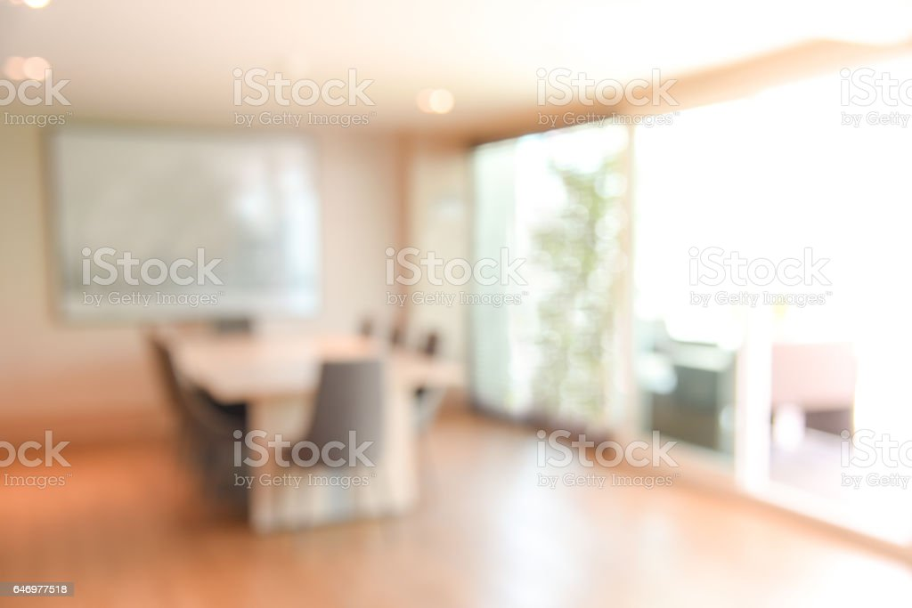 abstract blur office meeting room for background or backdrop design stock photo