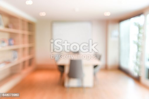 istock abstract blur office meeting room interior for background 648073980