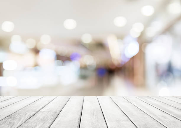 Abstract blur shopping mall background. stock photo