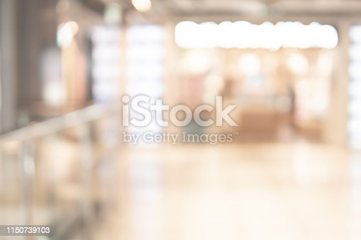 1019217082 istock photo Abstract blur shopping mall background 1150739103
