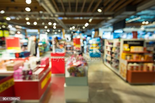 istock Abstract blur shopping mall 904109942