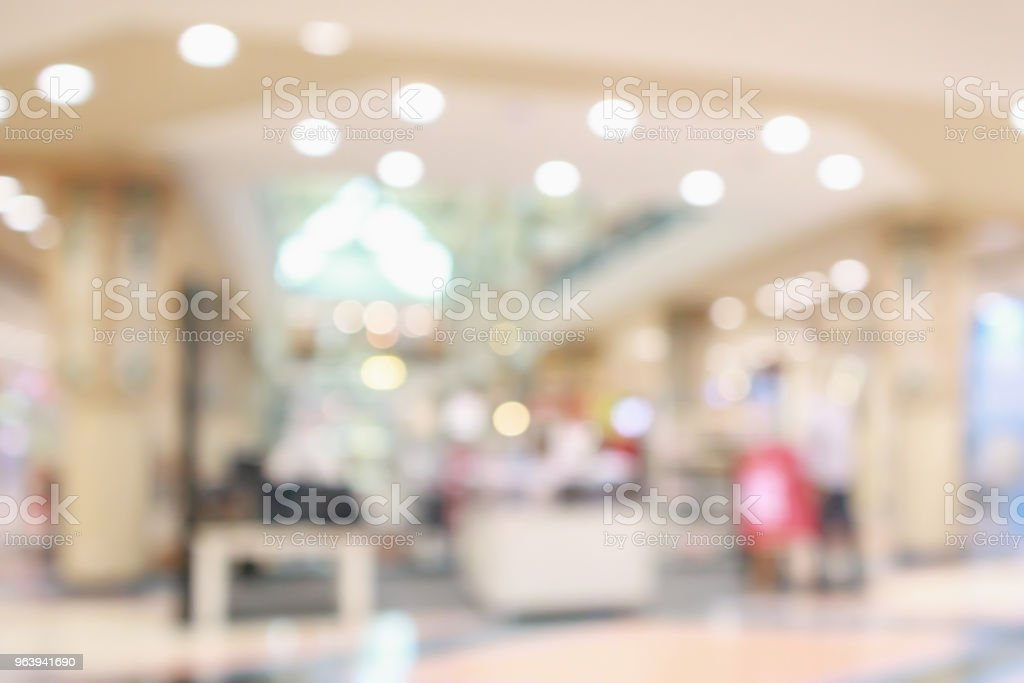 Abstract blur store in shopping mall defocused background - Royalty-free Abstract Stock Photo