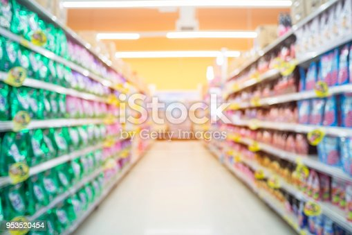 1072974214 istock photo Abstract blur supermarket and retail store in shopping mall for background. 953520454