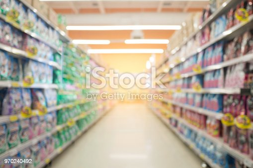 1072974214 istock photo Abstract blur supermarket and retail store in shopping mall for background. 970240492
