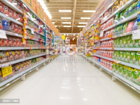 istock Abstract blur supermarket for background 938577966