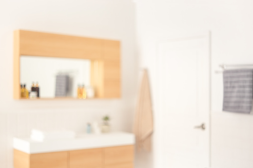 800987054 istock photo Abstract blur toilet room interior for background. 1213639057