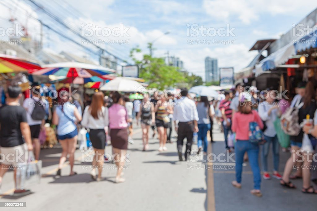 Abstract blur tourist shopping. royalty-free stock photo