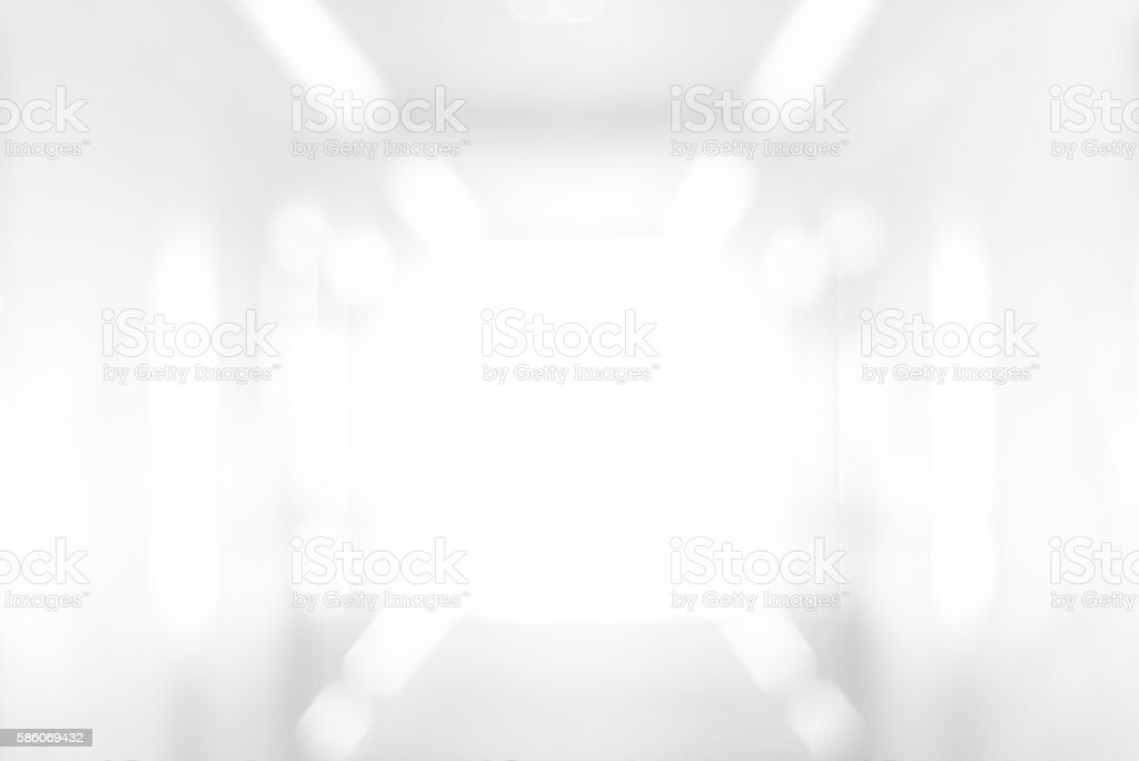 Abstract blur white room background stock photo