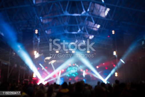 istock Abstract blured concert concept background 1152250417