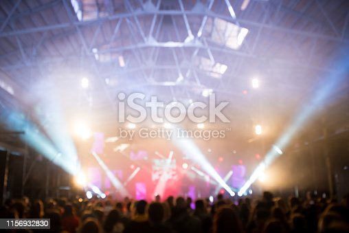 istock Abstract blured concert concept background 1156932830