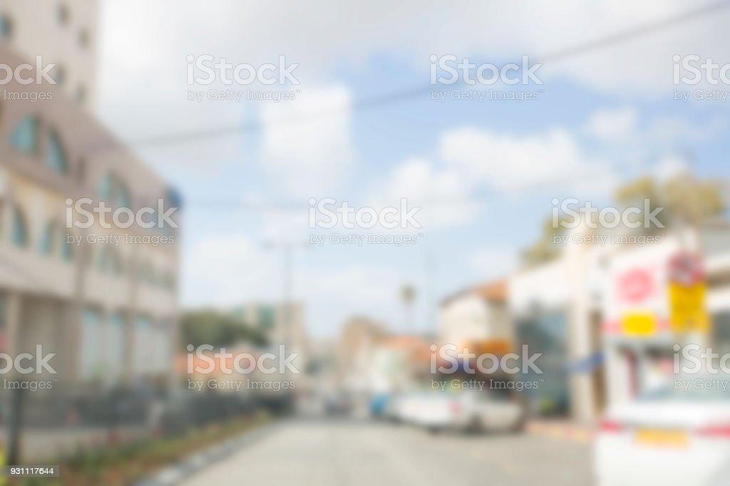 Arka plan bulanık. Bulanık yol ile çalışan araba - Royalty-free Aciliyet Stok görsel