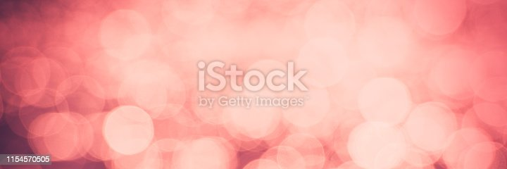 istock Abstract blurred background of bright pink and coral spots. 1154570505