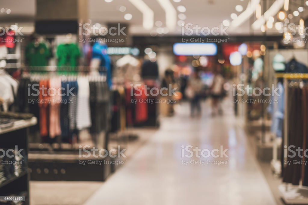 abstract blurred background of Department store stock photo
