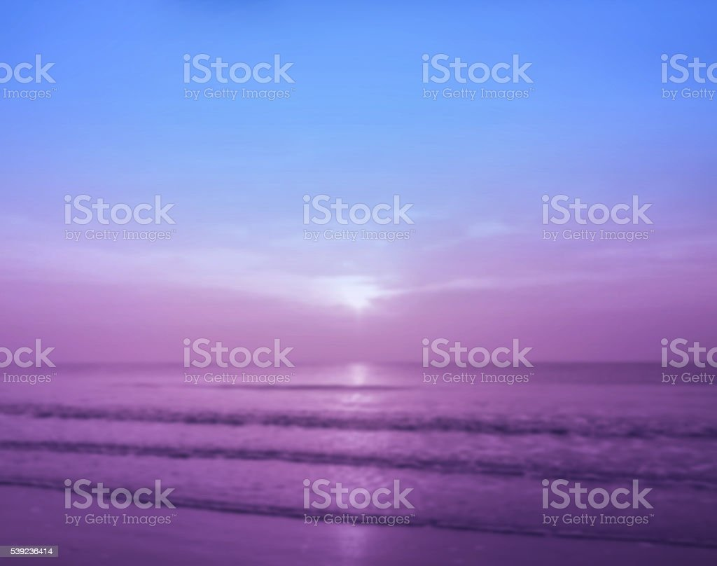 Abstract blurred background of summer beach royalty-free stock photo