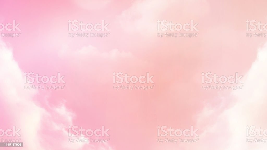 Abstract blurred beautiful soft cloud background with a pastel...