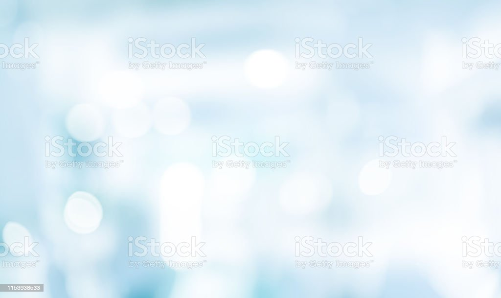 abstract blurred blue background with double exposure of bokeh circle glitter for design element and banner template concept - Zbiór zdjęć royalty-free (Abstrakcja)