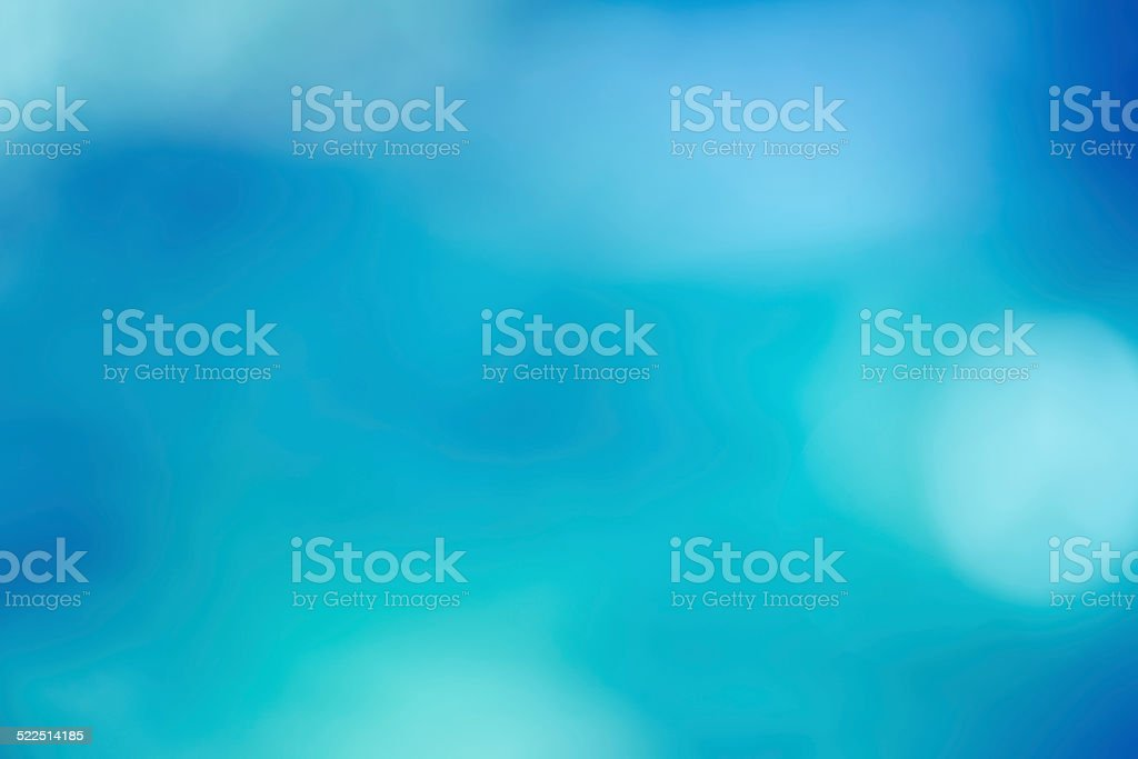 Abstract blurred bokeh background soft and dreamy in turquoise blue stock photo