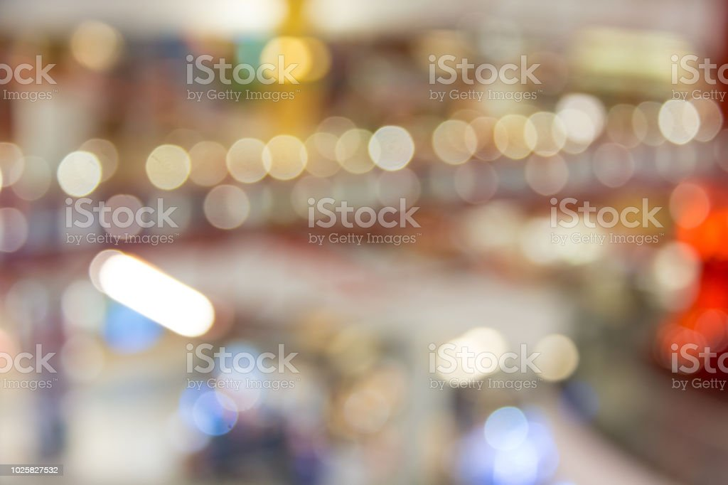 abstract blurred bridge background in department store stock photo