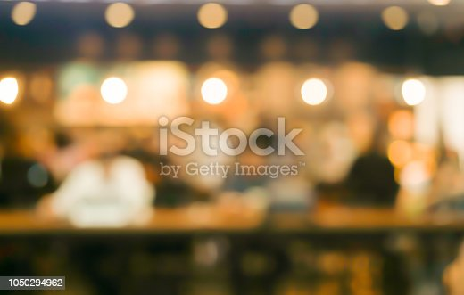 abstract blurred coffee cafe bar background with group of people meeting and talking in weekend time , relax and lifestyle concept