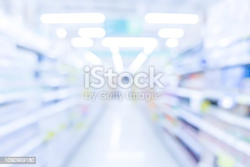 istock abstract blurred drug store inside shop with corridor path and aisle shelf distribution background for medical pharmaceutical business concept 1090969180