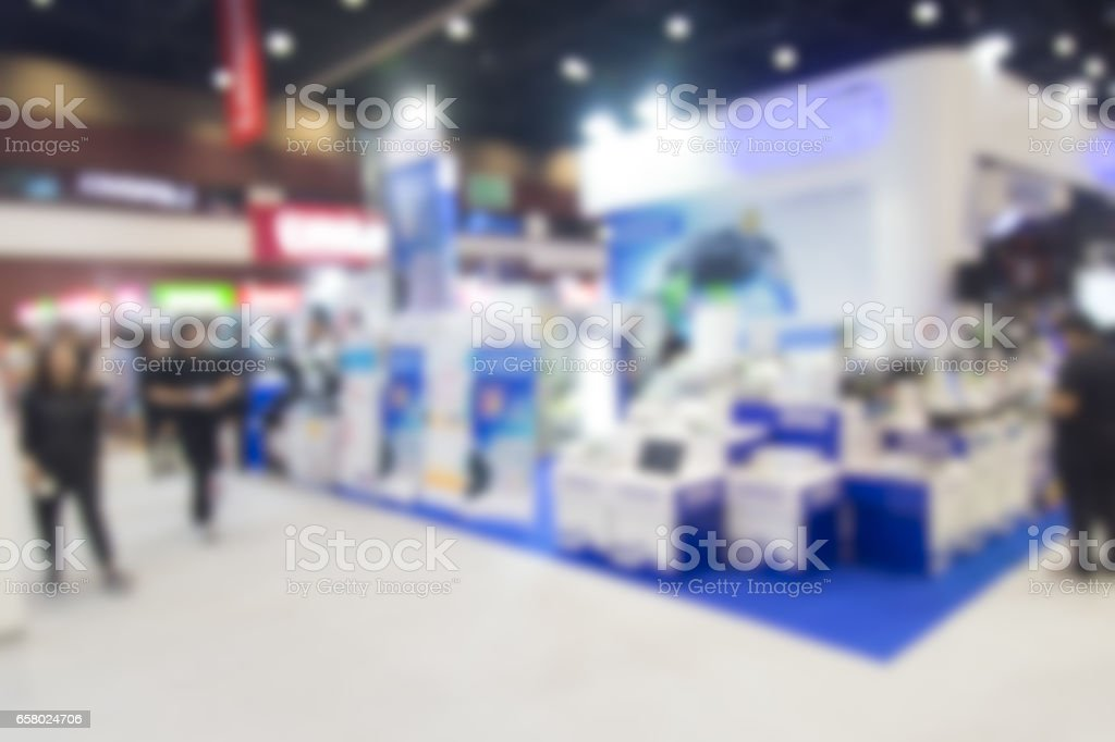 Abstract blurred event with people for background stock photo