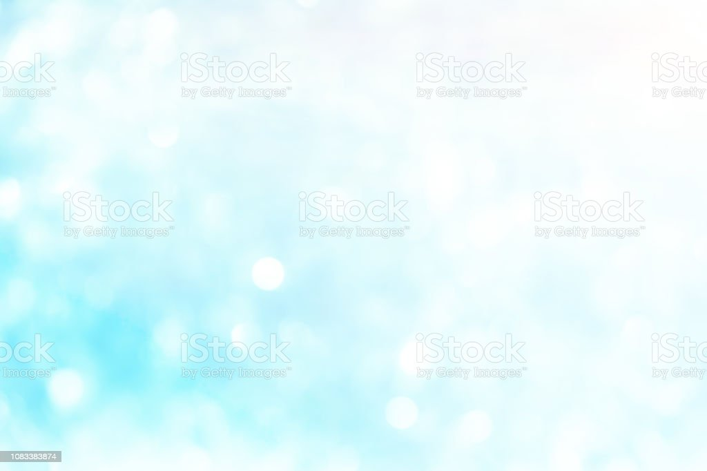 Abstract Blurred Glowing Blue And White Color Background