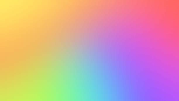 resumo turva fundo gradiente com cores brilhantes. ilustração de lisa colorida - arco íris - fotografias e filmes do acervo