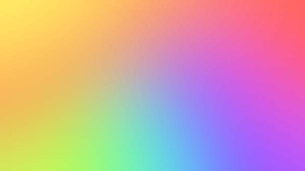 abstract blurred gradient background in bright colors. colorful smooth illustration - spectrum stock pictures, royalty-free photos & images
