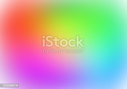 istock Abstract blurred gradient mesh background in bright rainbow colors. Abstract smooth rainbow background. 1020098228