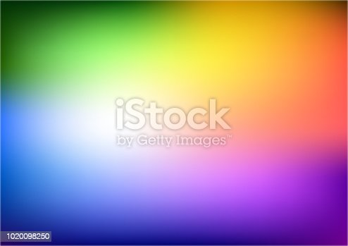 istock Abstract blurred gradient mesh background in bright rainbow colors. Abstract smooth rainbow background. 1020098250