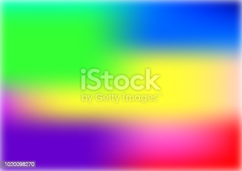 istock Abstract blurred gradient mesh background in bright rainbow colors. Abstract smooth rainbow background. 1020098270