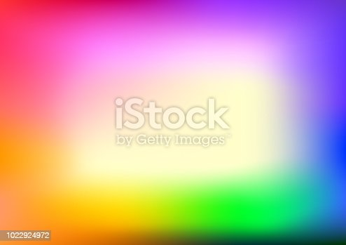 istock Abstract blurred gradient mesh background in bright rainbow colors. Abstract smooth rainbow background. 1022924972