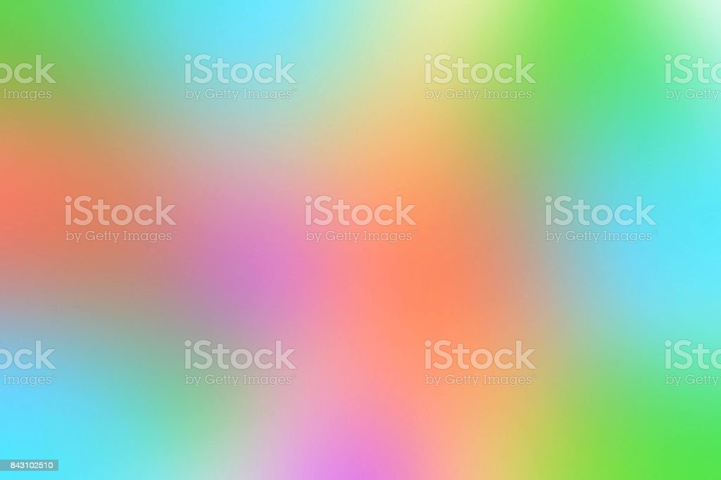 Abstract Blurred Green Blue Purple Orange And Yellow Colored