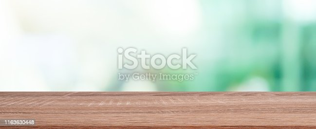 istock abstract blurred greenery modern garden at outside home garden view through window in panoramic background with vintage balcony terrace wood plank for show product on display concept 1163630448