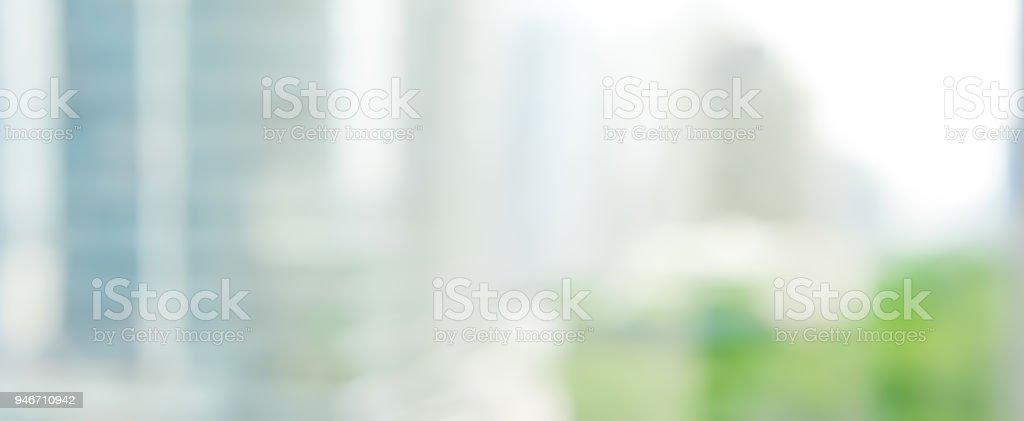 Abstrakte verschwommenes Bild von Gebäuden in der Stadt, Banner-Hintergrund – Foto