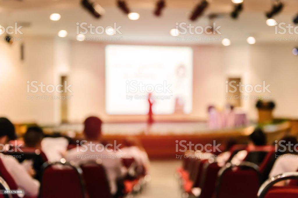 Abstrakte verschwommenes Bild von Geschäftstreffen im Konferenzraum – Foto