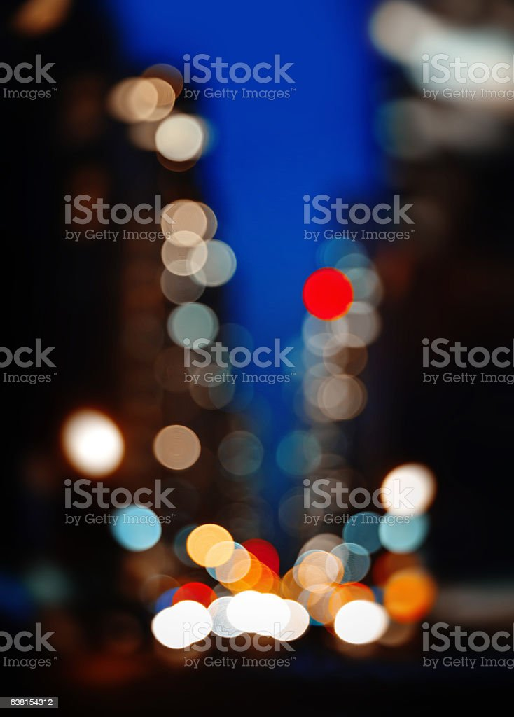 Abstract blurred image of NYC streets stock photo