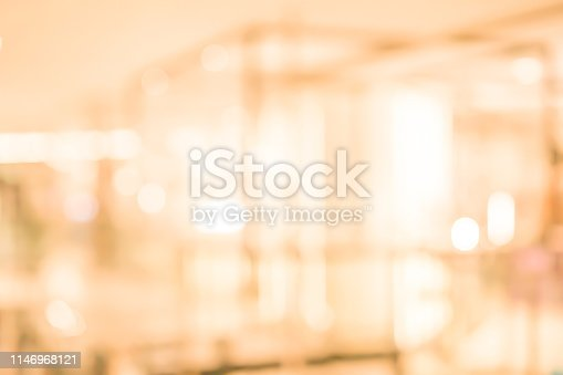 istock abstract blurred inside interior of luxury hotel with light bokeh bulbs background for design concept 1146968121