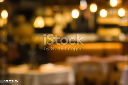 istock abstract blurred inside interior of luxury restaurant background for design concept 1156774130