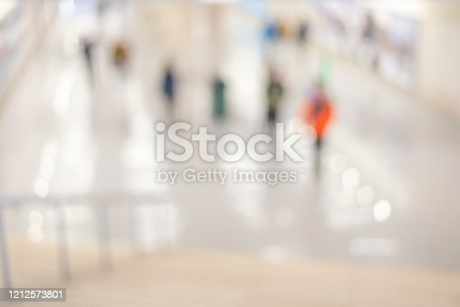 1138910853 istock photo Abstract blurred interior of corridor clinic background in blue color , blurry image 1212573801