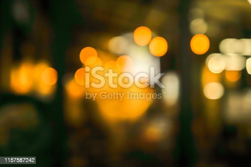 877010878 istock photo abstract blurred lamp bokeh light inside nightclub bar and restaurant for background design concept 1157587242