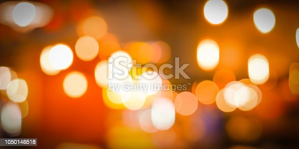 istock abstract blurred lantern with candle bokeh light at halloween night party darkness background for design concept 1050146518